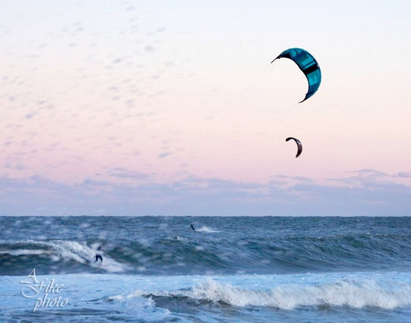Kite Surfing in Buxton, NC on the Outer Banks of North Carolina